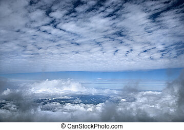 au-dessus, les, clouds.