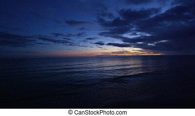 aube, coup, océan