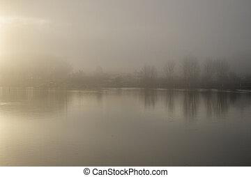 aube, rivière, douro