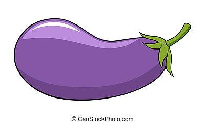 Abstract vector illustration of an aubergine cartoon style