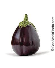 Aubergine, bringal or egg plant - Whole fresh purple...