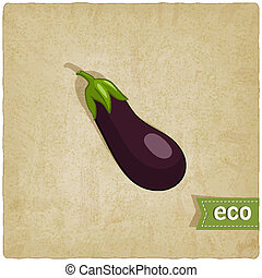 aubergine eco background - vector illustration. eps 10