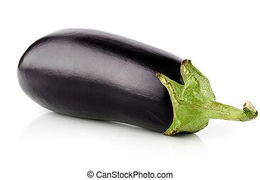 aubergine, groente, fruit, vrijstaand, op wit