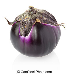 Aubergine isolated on white, clipping path included