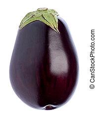 Aubergine Isolated - Isolated image of a fresh aubergine.