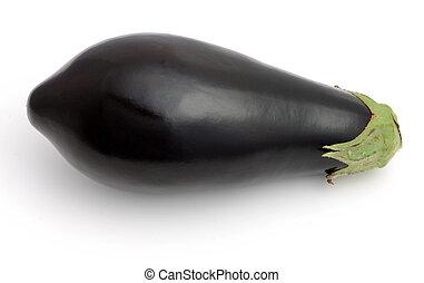 aubergine, op, witte achtergrond, vrijstaand
