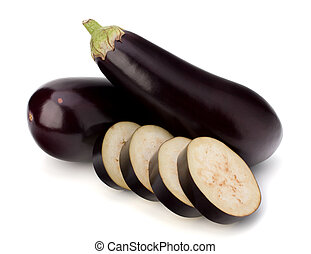aubergine, ou, légume, aubergine