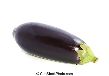 Tasty fresh aubergine isolated on a white background
