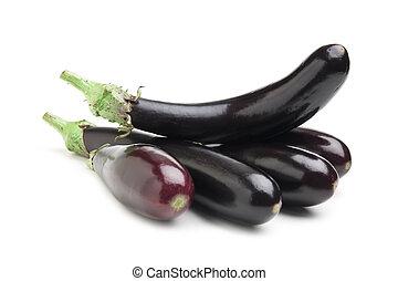 aubergines isolated on white background