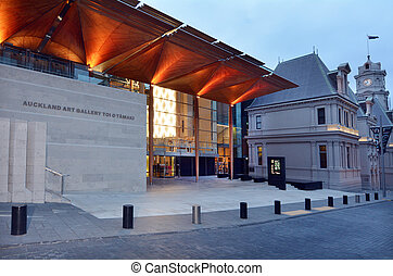 AUCKLAND, NZL - DEC 16 2014: Auckland Art Gallery Toi o Tamaki. It's the principal public gallery in Auckland that has the most extensive collection of national and international art in New Zealand.