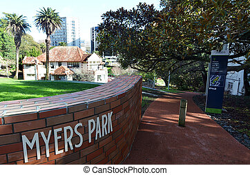 Myers Park in Auckland New Zealand - AUCKLAND - AUG 06...