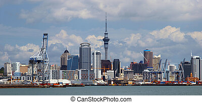 Cityscape of Auckland New Zealand