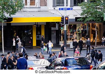 Auckland Cityscape - Queen Street - AUCKLAND, NZ - MAY...