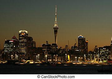 Auckland CityScape - Auckland cityscape on a clear summer...