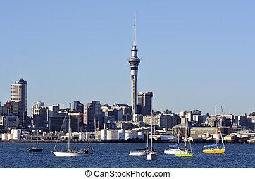 Auckland downtown skyline - New Zealand - AUCKLAND, NZ - MAY...
