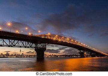 Auckland Harbour Bridge Frist Light