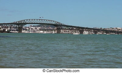 Auckland Harbour Bridge, New Zealand - Auckland Harbour...
