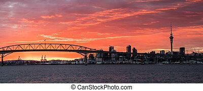 Auckland Harbour Bridge Sunrise