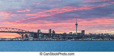 Auckland Harbour Sunrise Sky