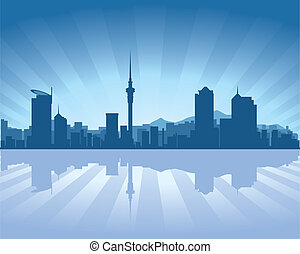 Auckland, New Zealand skyline - Auckland skyline with...
