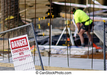 Construction site safety - AUCKLAND, NZ -JULY 29: ...