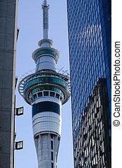 Auckland Sky Tower - AUCKLAND, NZ - MAY 29:Auckland Sky...
