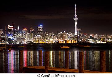 Auckland Skyline - AUCKLAND, NZ - MAY 30:Auckland Skyline at...