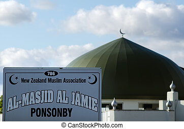 AUCKLAND, NZ - OCT 07:Al Masjid Al Jamie mosque in Ponsonby on Oct 07 2013. Muslim religion in NZ growing, It's estimated that there are approximately 17,000 Muslims.