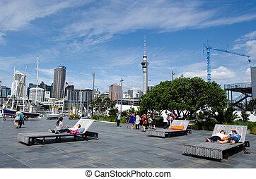 Auckland Viaduct Harbor Basin - AUCKLAND - OCT 06:Auckland ...