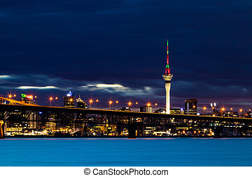 Auckland Sky Tower Night Time