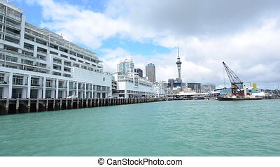 Auckland skyline New Zealand