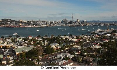 Auckland skyline New Zealand - Auckland skyline.Auckland has...