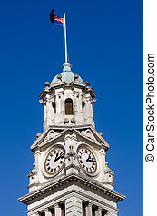 Auckland Town Hall Clock tower - Clock tower of Auckland...