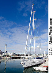 Auckland Viaduct Harbor Basin - AUCKLAND - JUNE 02:Super...