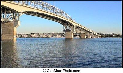 auckland, zélande, pont, nouveau, port