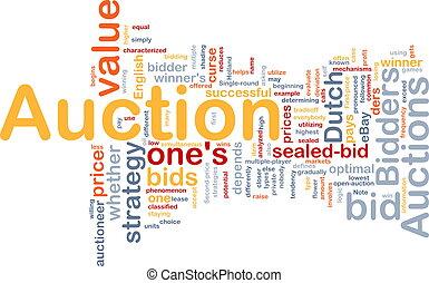 Auction background concept - Background concept illustration...