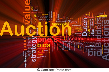 Auction background concept glowing - Background concept...