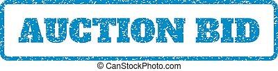 Auction Bid Rubber Stamp
