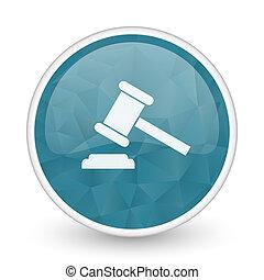 Auction brillant crystal design round blue web icon.