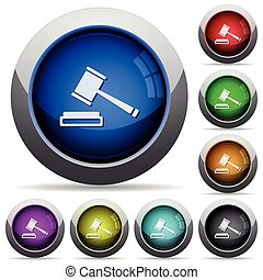 Auction button set - Set of round glossy auction buttons....