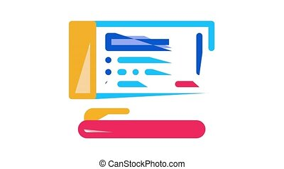 Auction Buying And Selling Goods Icon Animation Internet Auction And Application, Hammer And Car, Agreement And Bid, House And Picture