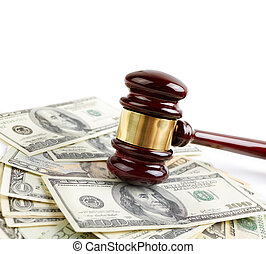 auction - commercial or legal concept, selective focus on a...