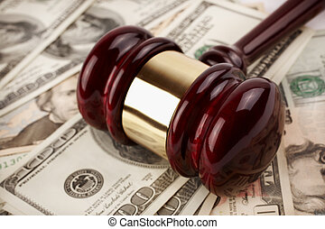 auction - commercial or legal concept, selective focus on...