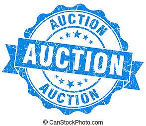 auction grunge blue stamp