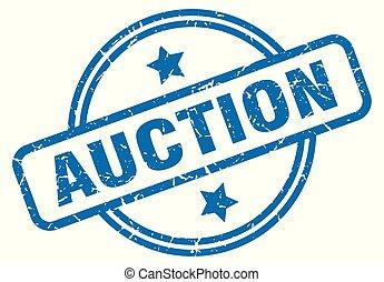 auction grunge stamp - auction round vintage grunge stamp