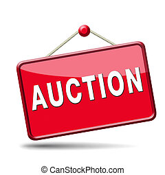 auction icon - bid online on internet auction for cars real...