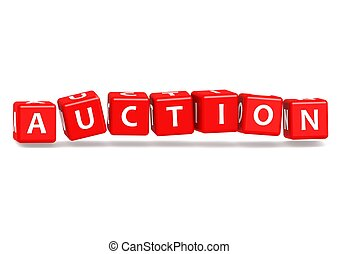 Auction - Rendered artwork with white background