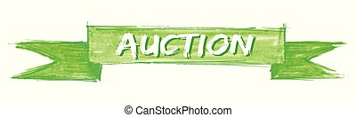 auction ribbon - auction hand painted ribbon sign