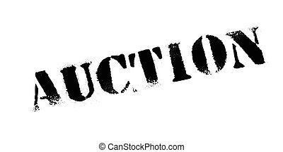 Auction rubber stamp