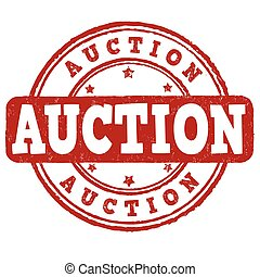 Auction sign or stamp